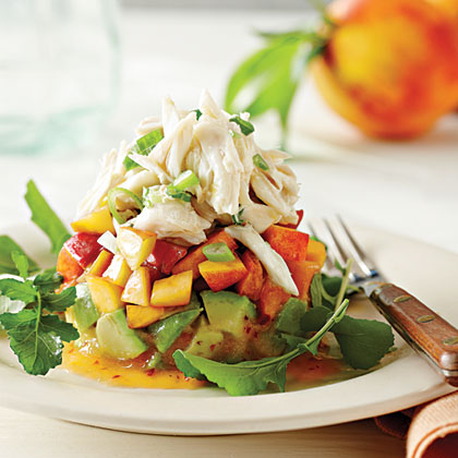 Crab Salad with Peaches and Avocados Recipe | MyRecipes Mobile