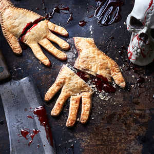 <p>Severed Hand Pies</p>