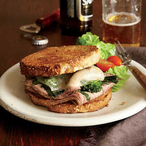 Roast Beef, Broccoli Rabe, and Provolone SandwichesRecipe