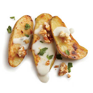 Pan-Seared Potatoes with Blue Cheese and WalnutsRecipe