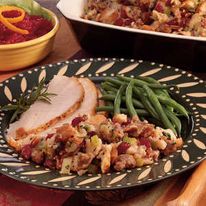 Sausage Pecan Cranberry Stuffing Recipe