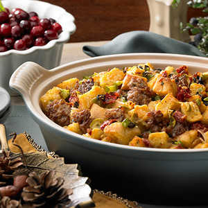 Italian All Natural Ground Sausage Stuffing Recipe