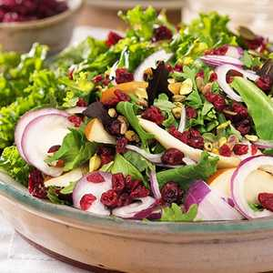 Holiday Kale Salad with CranberriesRecipe