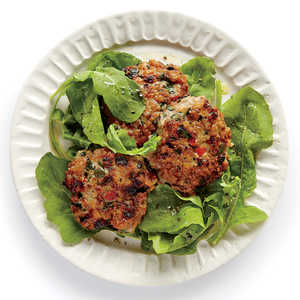 Roasted Red Pepper and Spinach Chicken Sausage PattiesRecipe