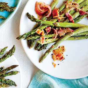 Asparagus with Bacon and ShallotsRecipe