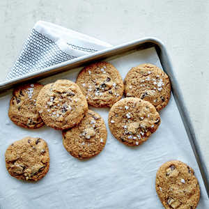 Crunchy Chewy Salted Chocolate Chunk Cookies Recipe