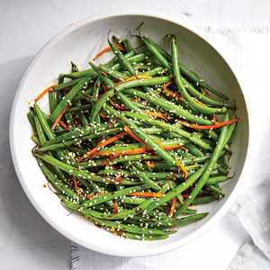 Haricots Verts with Carrots and SesameRecipe