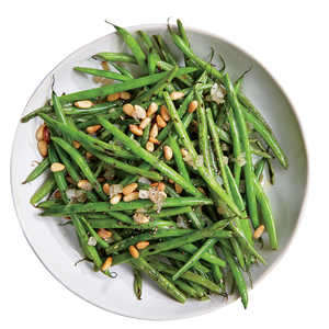 Haricots Verts with Shallots and Pine Nuts Recipe