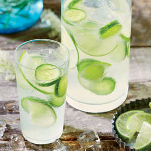 Cucumber Lime Infused Gin and TonicRecipe