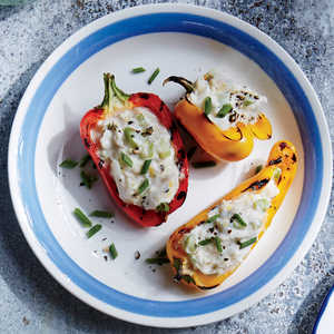 Crab Stuffed Grilled Peppers Recipe