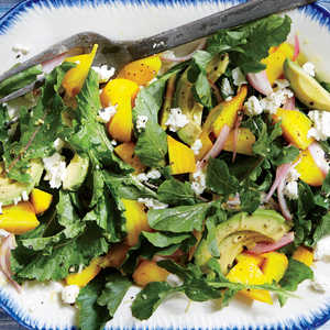 Golden Beet Salad with Avocado and Feta Recipe