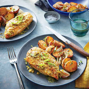 Seared Chicken Breasts with Green Piri Piri SauceRecipe