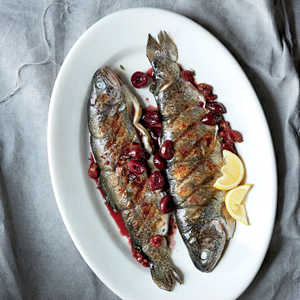 Grilled Trout with Cherry CompoteRecipe