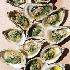 Grilled Oysters with Tarragon-Parsley ButterRecipe