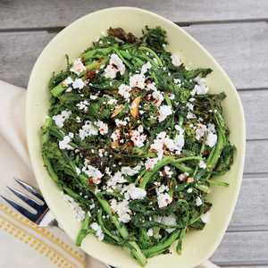 Grilled Broccoli Rabe with Feta and Crushed Red PepperRecipe