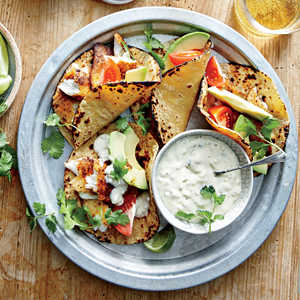 Fish Tacos with Sweet Pickle SauceRecipe