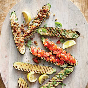 Grilled Zucchini with Lemon-Garlic BreadcrumbsRecipe