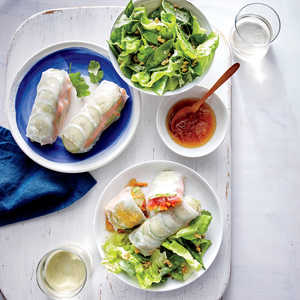 Tuna Spring Rolls with Pineapple Dipping Sauce Recipe