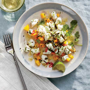 Halibut Ceviche with Lime and SeaweedRecipe
