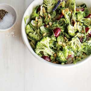 Shaved Broccoli and Brussels Sprouts SlawRecipe