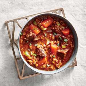 Slow Cooker Beef-and-Barley StewRecipe