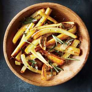 Roasted Parsnips with Rosemary, Garlic, and ParmesanRecipe