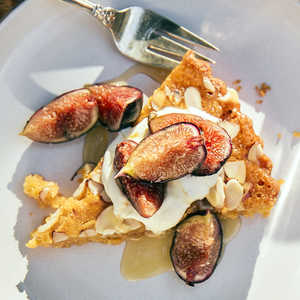 Almond Torte with Grilled Figs Recipe