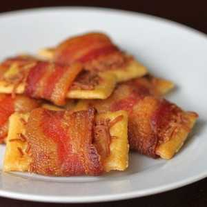 Bacon Wrapped Club Crackers Recipe