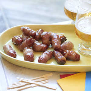 Bacon Wrapped Smokies with Brown Sugar and ButterRecipe
