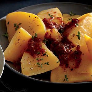 "Baked Rutabaga with ""Red-Eye"" Tomato SauceRecipe"