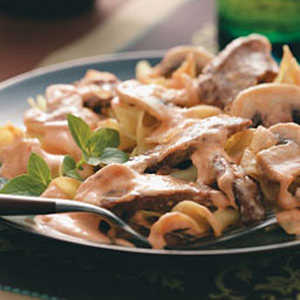 Beef Stroganoff (Tomato Paste, Beef Broth and Sherry)Recipe