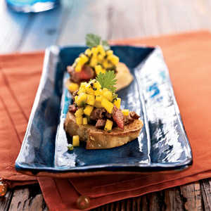 Beef Tenderloin Bruschetta with Brown ButterRecipe