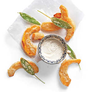 Beer-Battered Pumpkin with Dipping Sauce Recipe