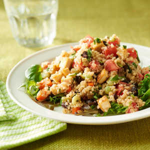 <p>Black Bean-Quinoa Salad with Basil-Lemon Dressing</p>