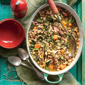 Black-Eyed Pea, Collard, and Sweet Potato StewRecipe
