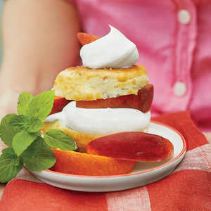 Boozy Peach Shortcakes with Sweet CreamRecipe