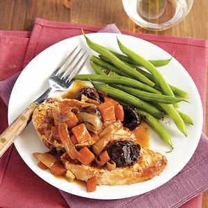 Braised Pork Loin with Port and Dried Plums Recipe