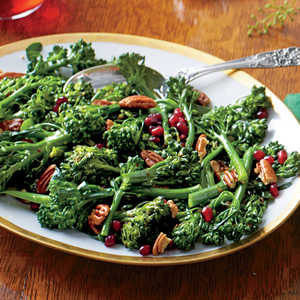 Broccolini with Pecans and Cane Syrup VinaigretteRecipe