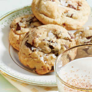 Browned Butter & Chocolate Chunk Cookies with Flake SaltRecipe