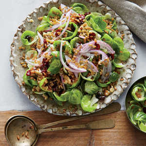 Brussels Sprouts Salad with Pickled Rye BerriesRecipe