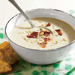 Buttermilk-Lady Pea Soup with BaconRecipe