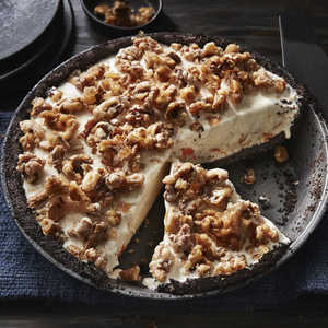Candied-Orange Walnut Ice Cream PieRecipe