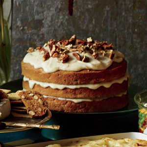 Carrot-Apple Spice Cake with Browned-Butter Glaze Recipe