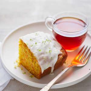 Carrot Ginger Tea Cake with Lime GlazeRecipe