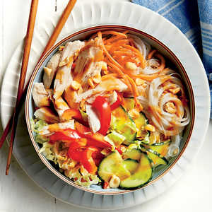 Chicken Noodle Bowl with Peanut-Ginger SauceRecipe
