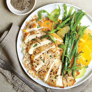 Chicken Paillard with Citrus Salad and CouscousRecipe