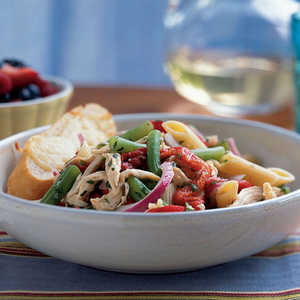 <p>Chicken-Penne Salad with Green Beans</p>