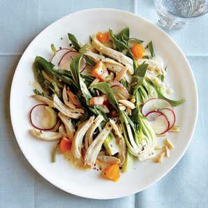 Chicken Salad with Bok Choy, Almonds, and ApricotsRecipe