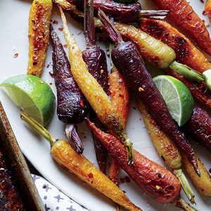 Chile and Lime Roasted CarrotsRecipe