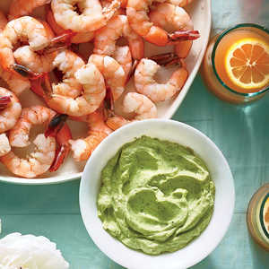 Chilled Shrimp with Avocado-Lime CreamRecipe